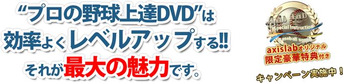 プロの野球上達DVDは効率よくレベルアップする!!それが最大の魅力です。